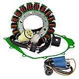 Kit HO Stator + External Ignition Coil + Crankcase Cover Gasket For Yamaha YFM 350 Warrior / Raptor / Big Bear 1988-2013 OEM Repl.# 5FU-81410-00-00 5NF-81410-00-00 5KM-82310-00-00 3KJ-82310-10-00