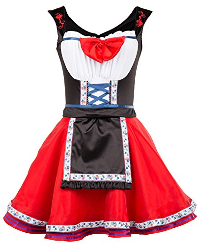 Alivila.Y Fashion Oktoberfest Costume Maid Bavarian Beer Girl Costumes Dress