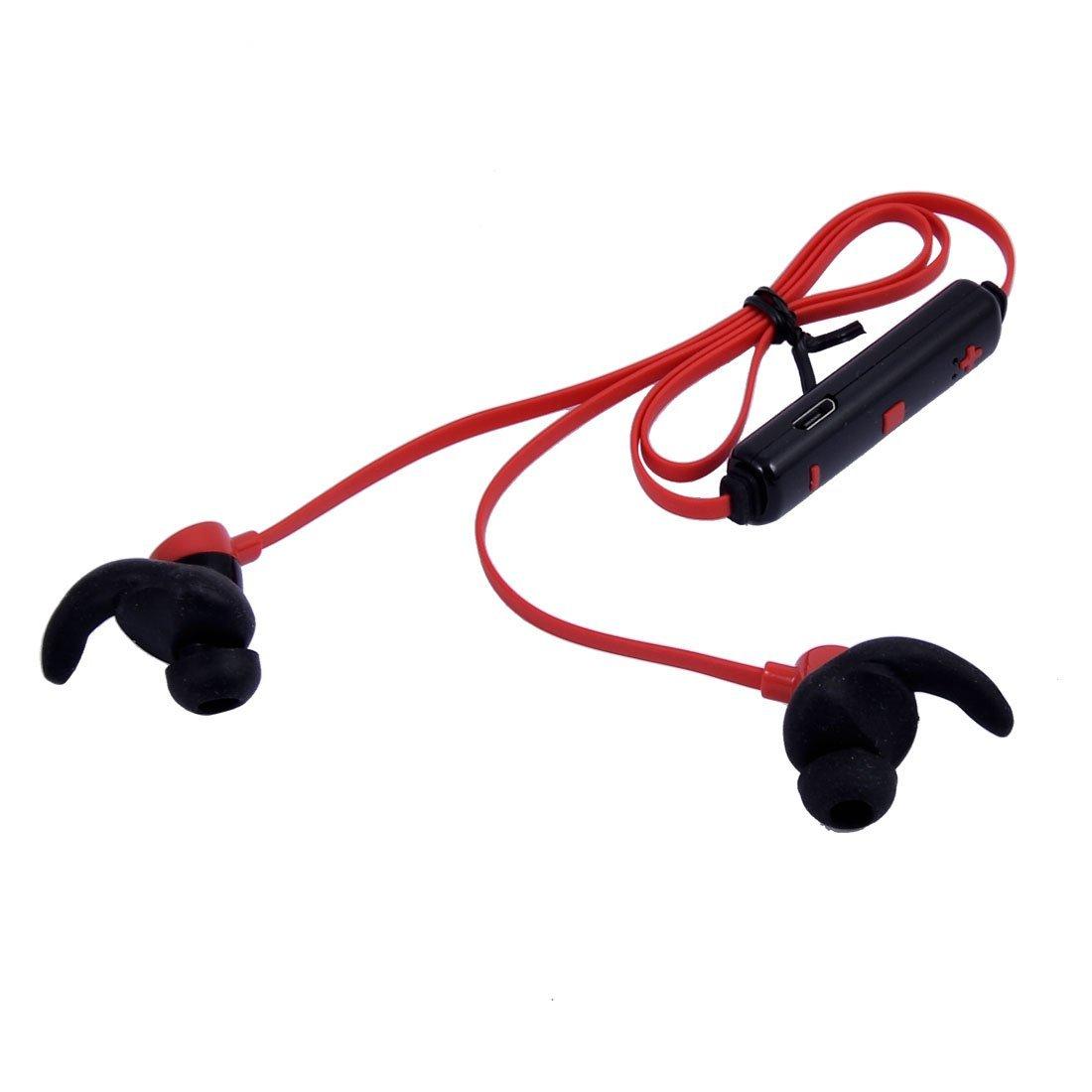 Amazon.com: eDealMax Deporte Bluetooth 4.1 Para auriculares inalámbricos en la oreja Los auriculares del micrófono del auricular Rojo: Electronics