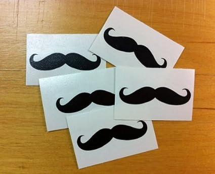 Decalgeek mustache sticker decal 5 pack 2