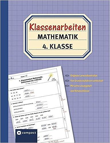 Klassenarbeiten Mathematik 4 Klasse Originale Lernzielkontrollen Von Grundschullehrern Entwickelt