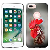 iPhone 7 Plus Case / iPhone 8 Plus Case - Starrying Rooster Hard Plastic Back Cover. Slim Profile Cute Printed Designer Snap on Case by Glisten