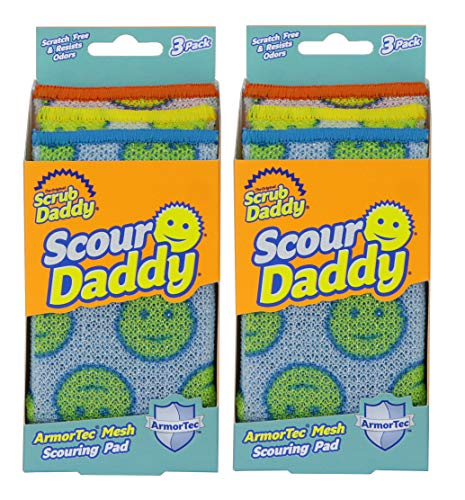 Price comparison product image Scrub Daddy - Scour Daddy Scouring Pad - Scratch Free and Odor Resistant - 2 Pack of 3 Count (6 Total)
