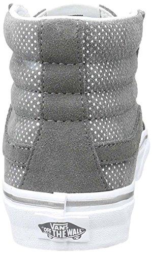 Vans Sk8-hi Slim (metallic Dots) Sneakers Moda Grigio Scuro / Dimensioni Di Peltro 7,5 Uomini / 9 Donne