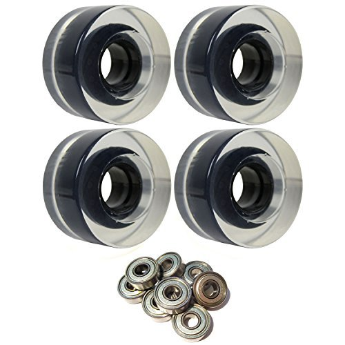 スケートボードクルーザーWheels 56 mm x 31 mm 83 aクリアABEC 7 Bearings [並行輸入品]   B078WVM1FF