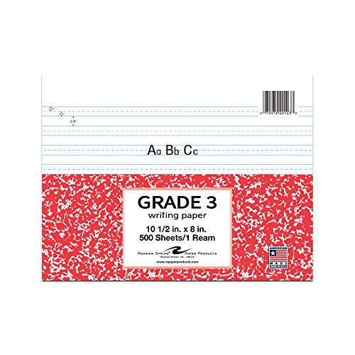 Roaring Spring Grade Three Filler Paper, 10.5'' x 8'', 500 sheets by Roaring Spring