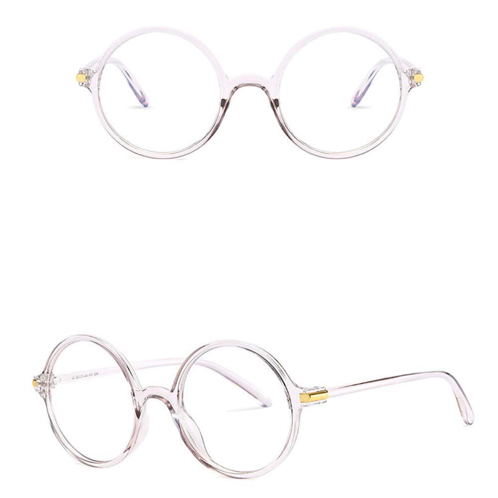 Blue Light Blocking Glasses Polarized Round Frame Eyeglasses Anti Blue Ray Glasses for Women Men (Gray, Free size)