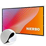 72 Inch Projector Screen 16:9 New Updated No Winkle (Installation Tools Included) HD 4K Portable Projection Screen Foldable for Home Theater Cinema Indoor Outdoor
