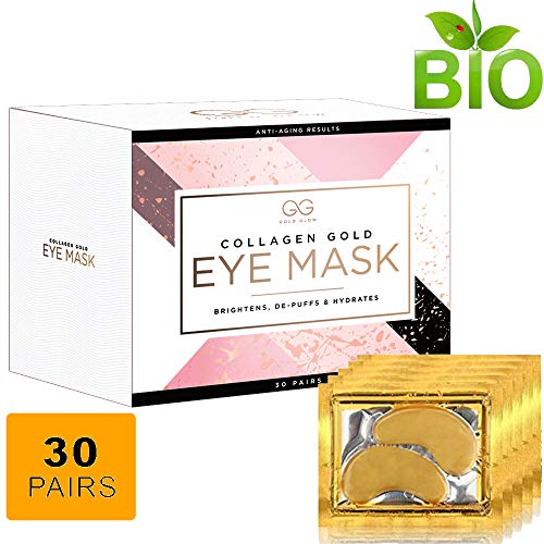 Awake Moisturizing Moisturizer - 24K Gold Glow Collagen Under Eye Treatment Mask | Hyaluronic Acid Eliminates Wrinkles,Dark Outs,Under Eye Puffiness! Moisturizer Firming Eye Pads For Women & Men