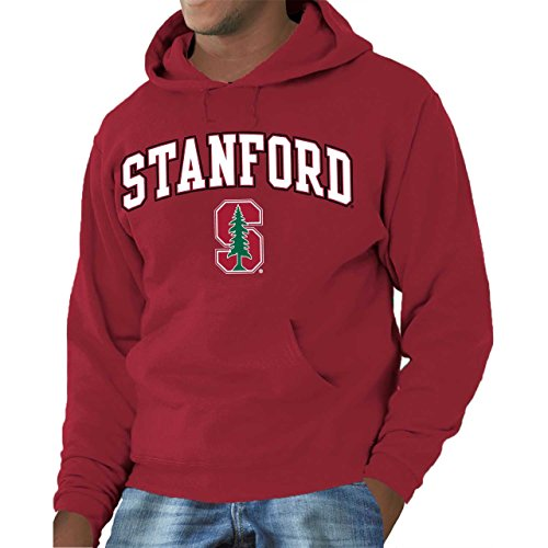 (Campus Colors Stanford Cardinal Adult Logo Hooded Sweatshirt, Large)