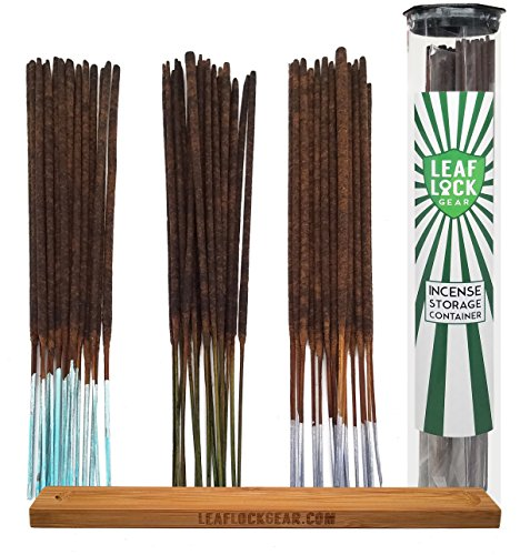 Bundle - 62 Items - Wild Berry Incense Sleepy Time and Relaxation Scent Sampler. Includes 20 Sticks Each of Lavender, Jasmine, and Sandalwood with Incense Storage Container and Burner