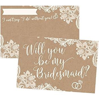 Amazoncom Will you be my Bridesmaid Card Bridesmaid Proposal