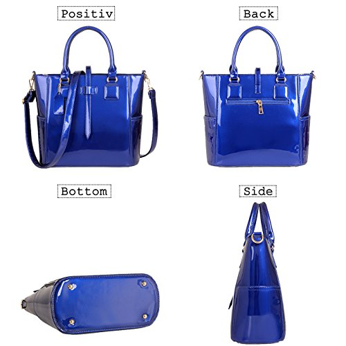 Purple Set Handle Coolives Purse Fashion Bag Shoulder Red Handbags Design Leather Patent top Elegant Women's Bag wwqS1UEn6