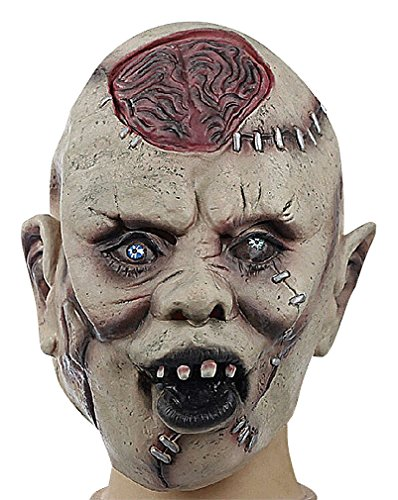 Maze Scary Grotesque Scarred Brain Protruding Villain Full Face Resin Mask, 1- One -