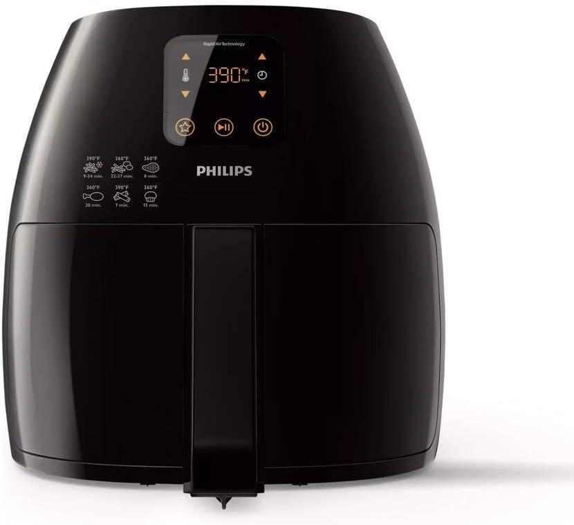 Philips Avance XL Digital Airfryer (2.65lb/3.5qt), Black - HD9241/94CO