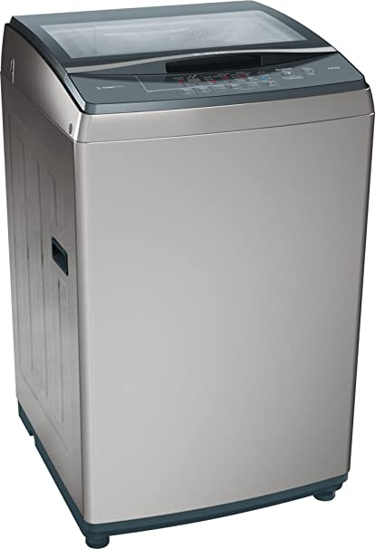 Bosch 8kg Fully Automatic Top Loading Washing Machine (WOE802D0IN, Silver) Washing Machines & Dryers at amazon