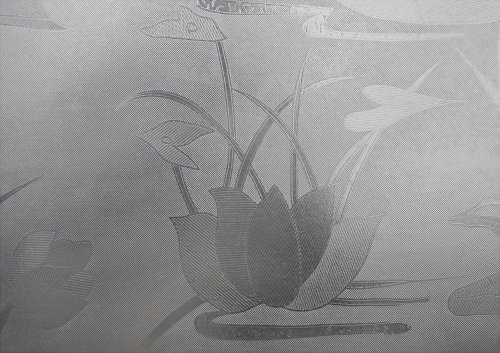 Hosho Water Lily Glass Decorative Frosted Window Film 3 FT x 165 - Water 165'