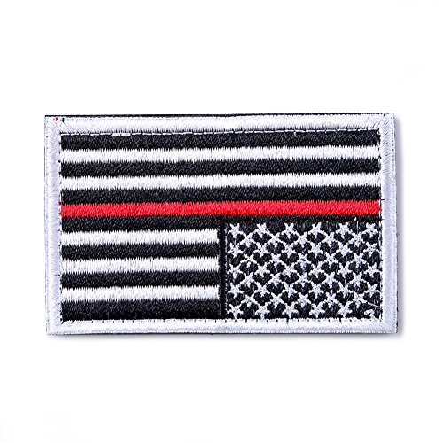 BX warehouse Tactical USA Flag Patch (White&Red)