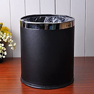 Creative Leather Trash Cans Household Stainless Steel Trash Cans ( Color : 4 )