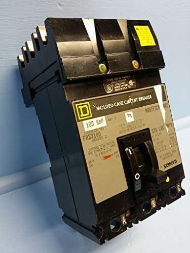 3P Standard Circuit Breaker 100A 240VAC by Square D