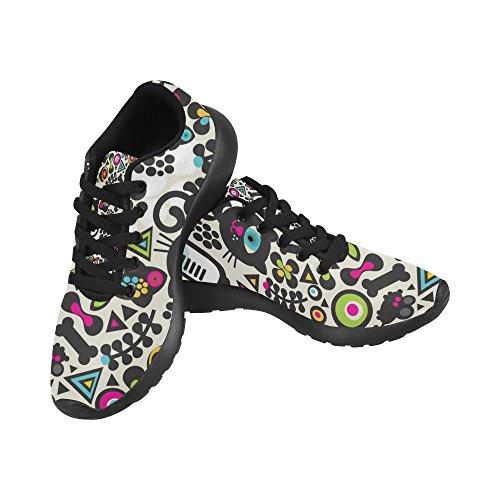Negro Mujer Zapatillas Zenzzle Para Running Lona de de Negro Wx8ngq1Zaw