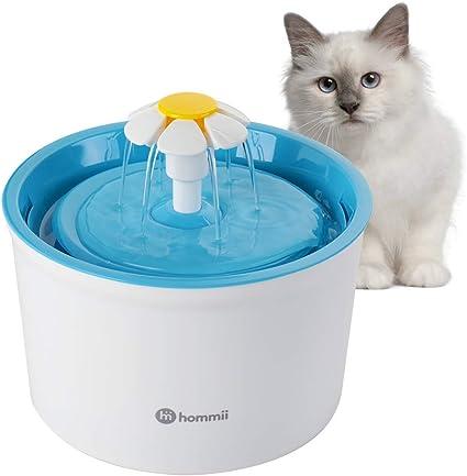Amazon.com: Hommii – Fuente de agua para mascotas con diseño ...