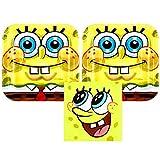 Spongebob Squarepants Party Pack for 16 Guests - 16 Dessert Plates and 16 Beverage Napkins