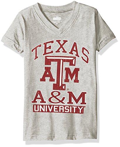 NCAA Texas A&M Aggies Children Girls V-Neck Short sleeve (Aggie Girl)