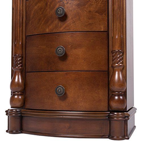 All Wood Jewelry Armoire ~ Best choice products armoire jewelry cabinet box storage