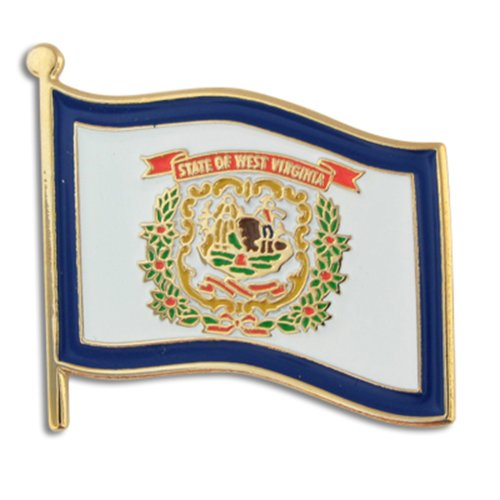 PinMart West Virginia US State Flag WV Enamel Lapel Pin 1""