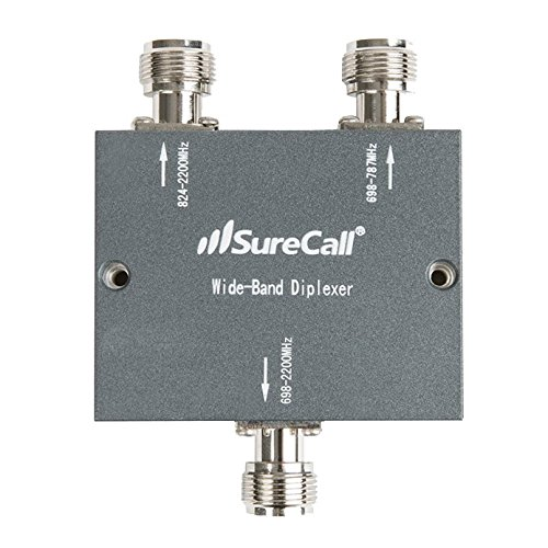 SureCall Wide Band Diplexer Frequency-Selective Distribution Device, N-Female Connectors by SureCall