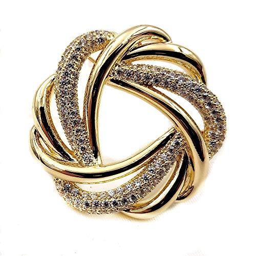 - DREAMLANDSALES Classic Vintage Wire Twist Gold Love Knot Brooches Wreath Pins
