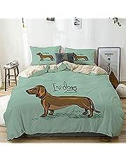Sängkläder tryckt påslakanset 3 delar 135 x 200 cm tax sängkläder påslakan med dragkedja stängning med 2 örngott 50 x 75 cm mjukt mikrofiber påslakan