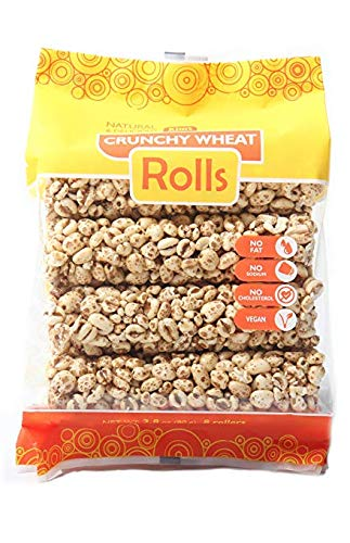 Kims Magic Pop Crunchy Roll Whole Wheat Flavored Snack, Vegan, All Natural (1 Pack of 8 Wheat Rolls)