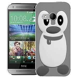 Case Mate móvil HTC ONE MINI 2 (M8 MINI) rígida con contorno protector y carcasa de silicona y lápiz capacitivo de pingüino - suman Sharma (silicio)