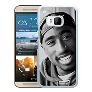 Popular Custom Designed Cover Case With Tupac Shakur (2) White For HTC ONE M9 Phone Case
