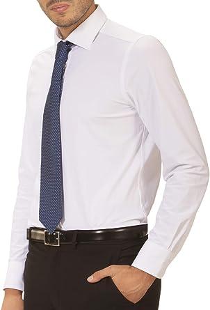 Wave Futura - Camisa de Hombre Milano: Tejido técnico, Slim Fit, no se Plancha y no se Arruga: Amazon.es: Ropa y accesorios