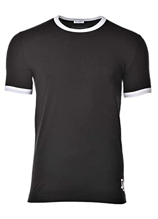 a456d70d376309 Dolce   Gabbana Tee Shirt Homme, sous-Vêtement, Girocollo, Col Rond, Uni -  Noir  Amazon.fr  Vêtements et accessoires