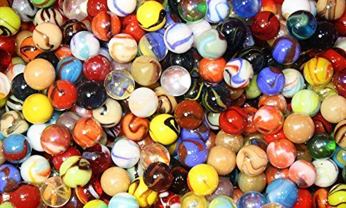 500 Count Bulk Assorted Premium Player Glass Mega Marbles Toy