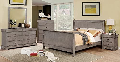 Amazon Com Eastern King Size Sleigh Bed Grey Color Dresser