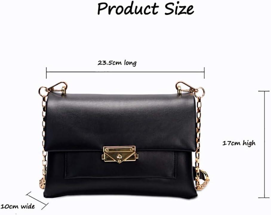 Nouveau sac à main en cuir sac à main de style européen et américain chaîne sac à main sac à bandoulière mode sac à bandoulière paquet diagonale Black