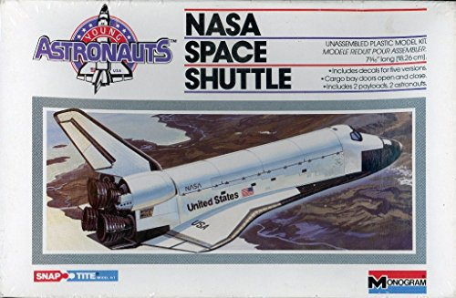 Monogram 1:200 NASA Space Shuttle Snap Title Plastic Model Kit #5905-0100