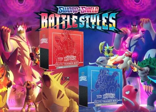 PKMN TCG Sword and Shield Battle Styles Elite Trainer (Random) - 8 Packs