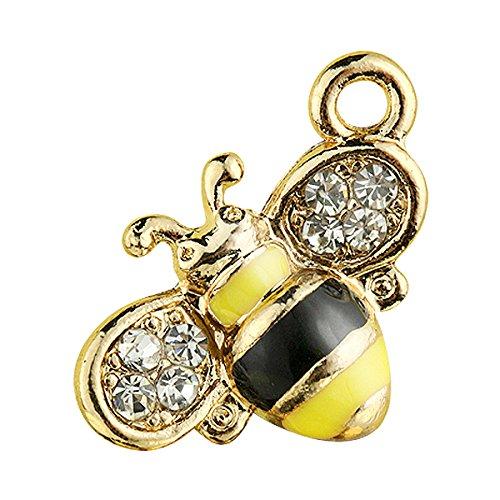 Creative DIY Little Yellow Bee Charms Pendants Wholesale (Set of 3) MH143 -