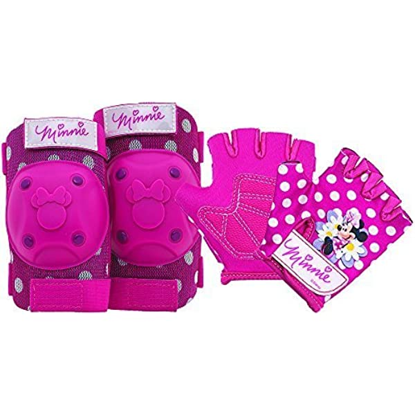 Bell Minnie Mouse Protective Gear with Elbow Pads//Knee Pads /& Gloves