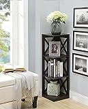 Convenience Concepts Oxford 3-Tier Corner Bookcase, Espresso Review