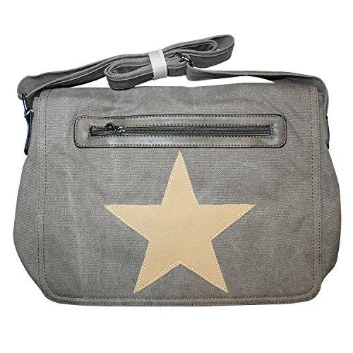 HELLIS & DERRY© Bolso bandolera, gris (gris) - X-Z8170 gris oscuro