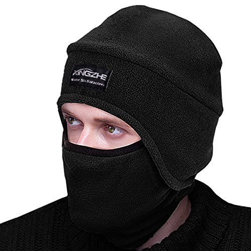 Winter Hats Balaclava Windproof Ski Face Mask Cold Weather Motorcycle Neck Warmer Tactical Balaclava Fleece Hood for Women Men Kid Cycling Helmet Liner Beanie Thermal Scarf Outdoors Ski Snowboard Gear from XINGZHE