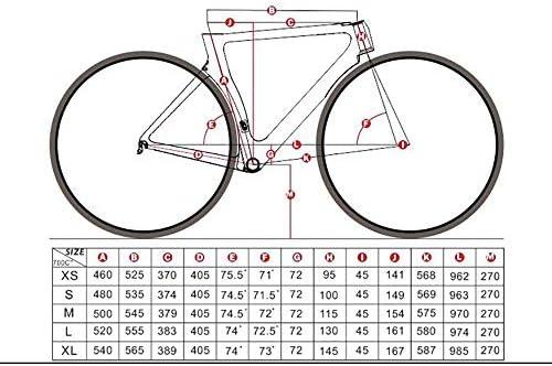 Wanlianer-Cycling Freno de Disco Cuadro de Carretera de Fibra de ...