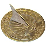 Rome 2347 Hourglass Sundial, Solid Brass with